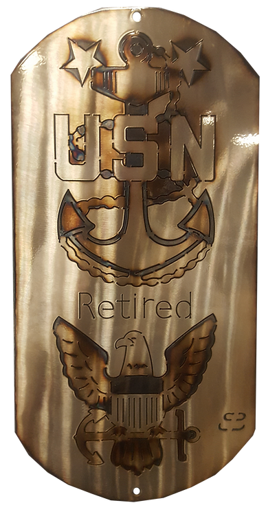 "16"" Retired US Navy Anchor Eagle Dog Tag"