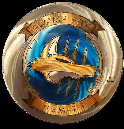 "17"" Squadron HSM-17 Swamp Fox Medallion"