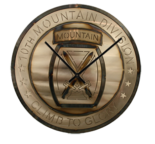 "15"" 10th Mountain Division Clock"