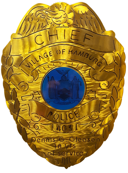 Village of Hamburg Chief Police Badge