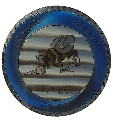 "17"" Seabee Can Do Medallion"