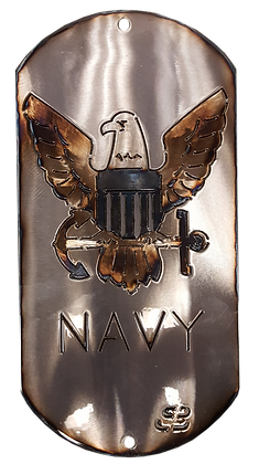 "12"" Navy Dog Tag"