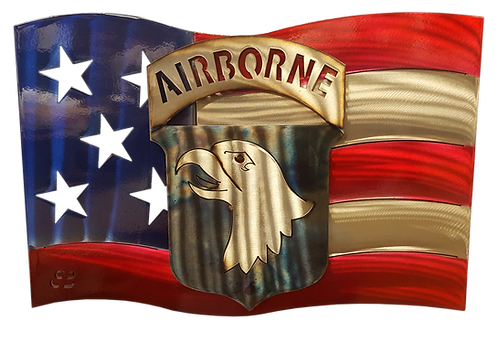101st Airborne US Flag Wall Hanging