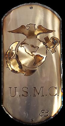 """16"""" USMC Eagle, Globe & Anchor Dog Tag"""