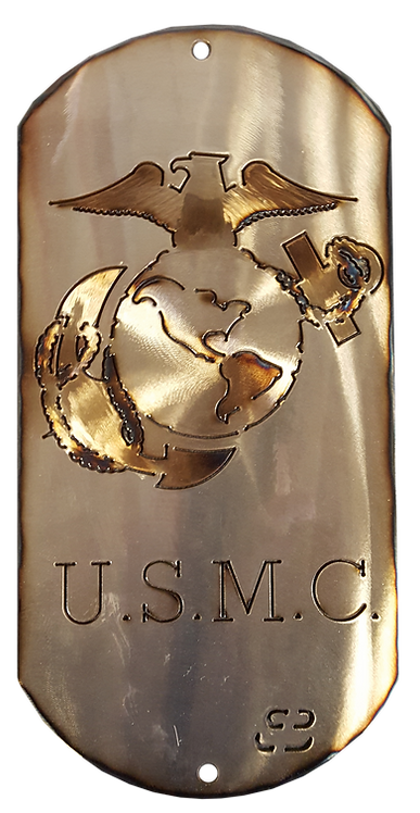 "16"" USMC Eagle, Globe & Anchor Dog Tag"