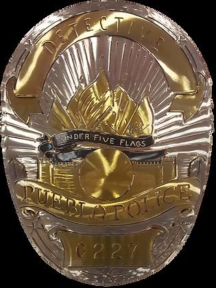 Pueblo Police Detective Badge