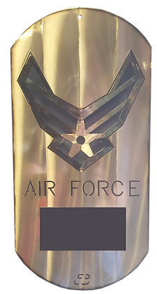 """16"""" Air Force Dog Tag with Laser Tag"""