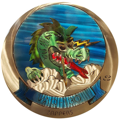 "17"" Squadron VAQ-130 Zappers Medallion"