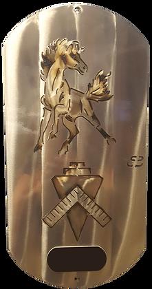 "16"" Navy Mustang/Builder  Dog Tag w/ Laser Tag"
