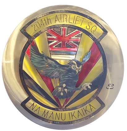 "17"" 204th Airlift Squadron Medallion"