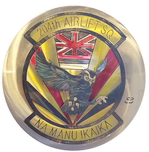 """17"""" 204th Airlift Squadron Medallion"""