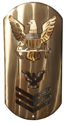 """16"""" E-6 Petty Officer First Class Dog Tag"""