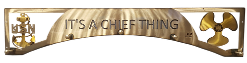 Chief Thing Anchor and Propeller Coat Rack
