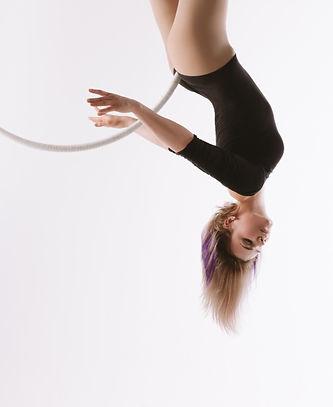 woman doing aerial hoop