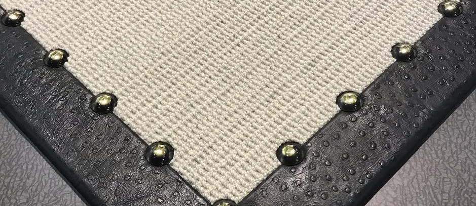 Ostrich border with Custom Nail Heads