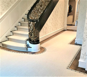 Custom Foyer and Stair Runner Install
