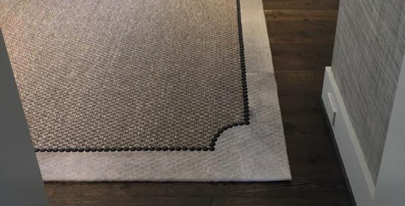 Custom Area Rug with Nail Heads