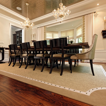 Custom Area Rug with Nailheads/ Designed by: Weiss Design Group