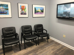 Comfortable, clean waiting room always available.