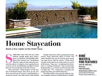 Phoenix Home and Garden editorial features Mossman Brothers Pools! July 2015 issue.