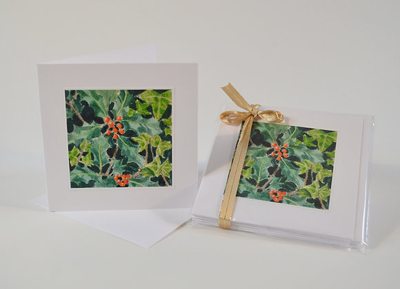 Holly and Ivy cards