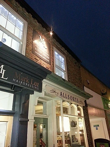 Shop sign lighting Yorkshire