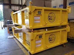 skip pan, demolition,  pan hog, crane, rigging,lift box,  material handling pan, trash pan, dump pan
