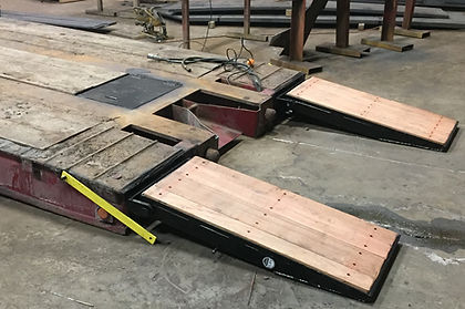 paver ramps, front hydraulic ramps, ramps