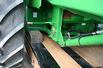 lowboy ag combine trailer safety feature