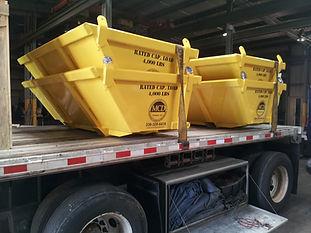 skip pan, crane, rigging, material handling, trash handling, demolition, crane accessories