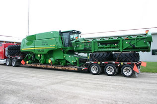lowboy AG Combine-machinery hauling trailers