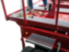 boom trailer, catwalks, safety, heavy hauler, crane catwalks