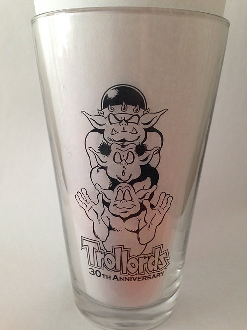 Trollords 30th Anniversary Glass Tumbler