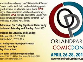 Orland Park Comic Con 4/26-28/19