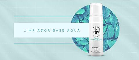 2. Limpiador base Agua Skincare coreano.