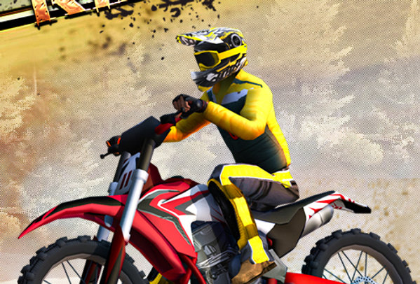 Motocross Rider - Game Ui PSD
