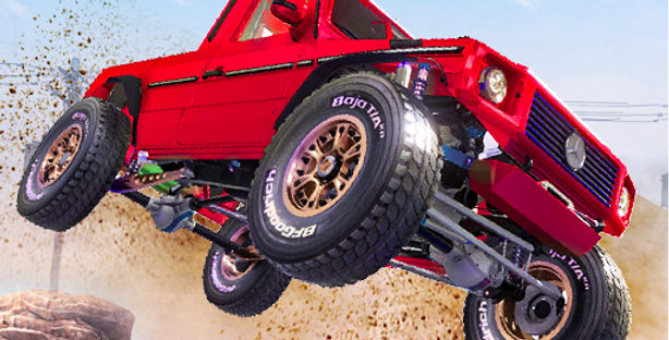 Offroad Car Stunts - Game Icon PSD