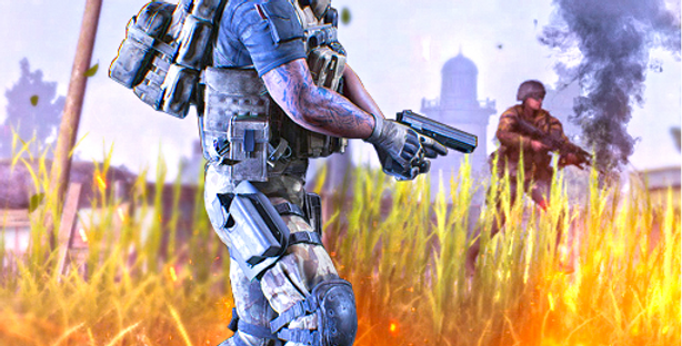 FPS Shooter - Game Icon PSD