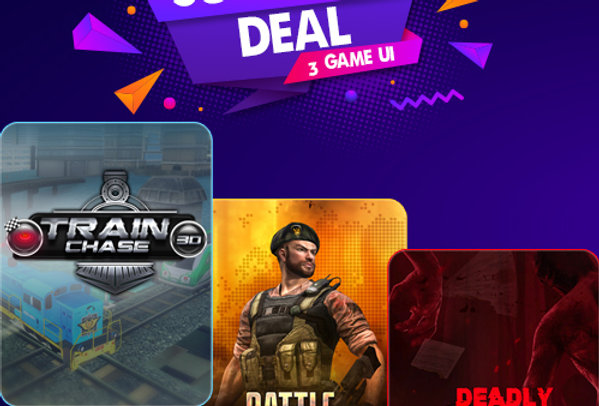3 Games Ui PSD