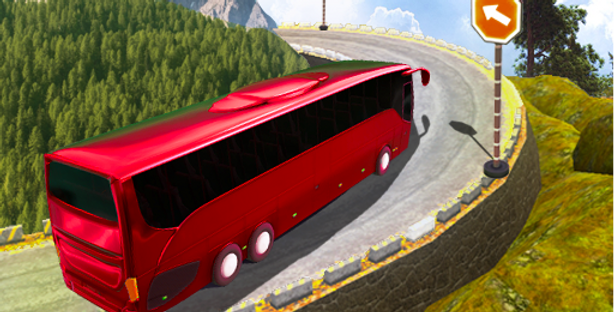 Bus Hill Ride - Game Icon PSD