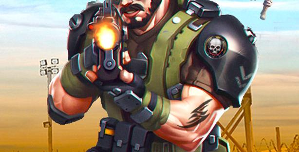 FPS Commando - Game Icon PSD