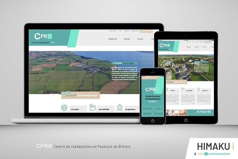 HIMAKU, agence web à Vannes, présente le nouveau site internet du CPRB à Billiers dans le Morbihan