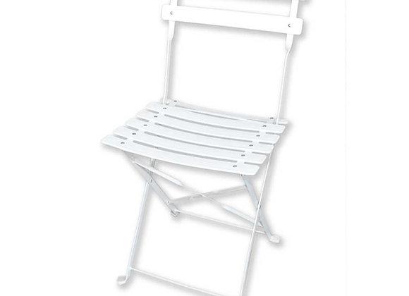 Chaise guéridon blanche