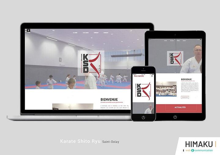 HIMAKU, agence web à Vannes, a développé le site internet de ce club de karate dans le Morbihan