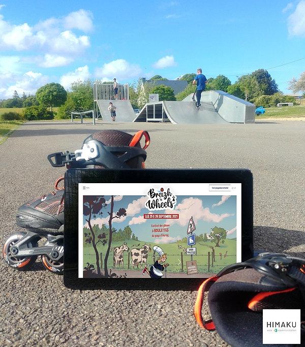 HIMAKU, agence web à Vannes, accompagne le festival Breizh 'n Wheels dans sa communication