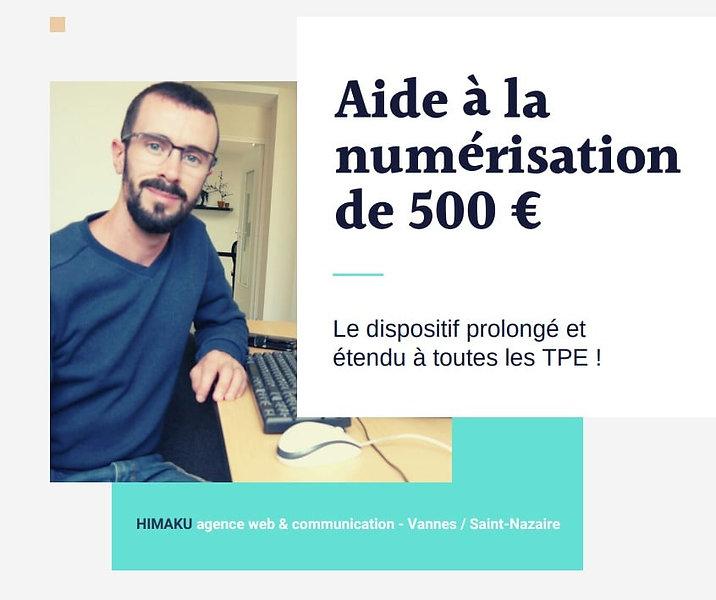 Aide à la numérisation de 500 € : le dispositif prolongé et étendu à toutes les TPE