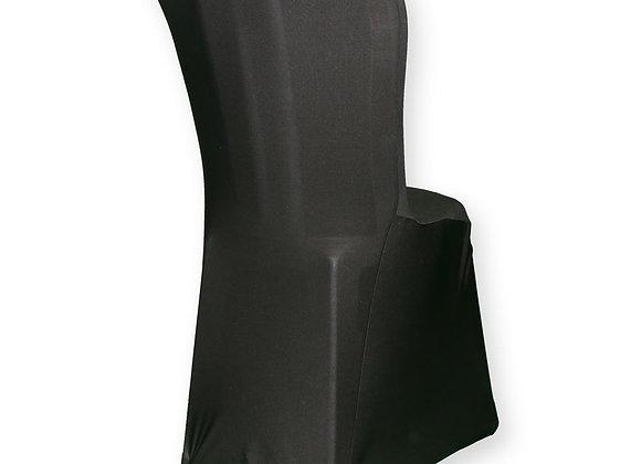 Housse de chaise en lycra noire