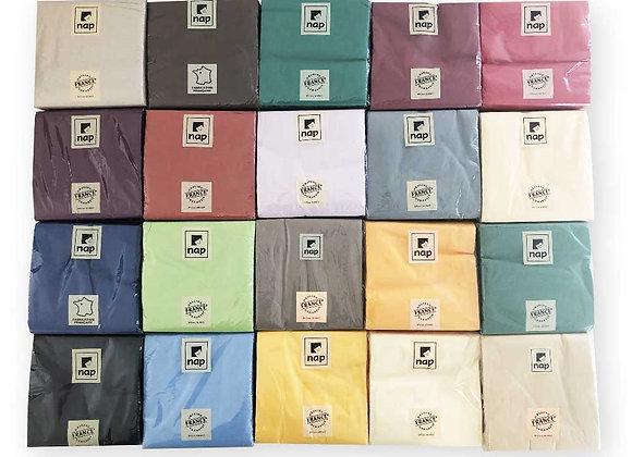 Paquet de 100 serviettes ouate couleur