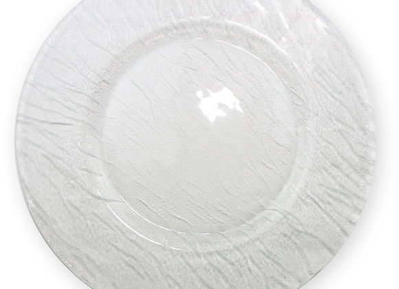 Assiette de présentation mineraly transparente