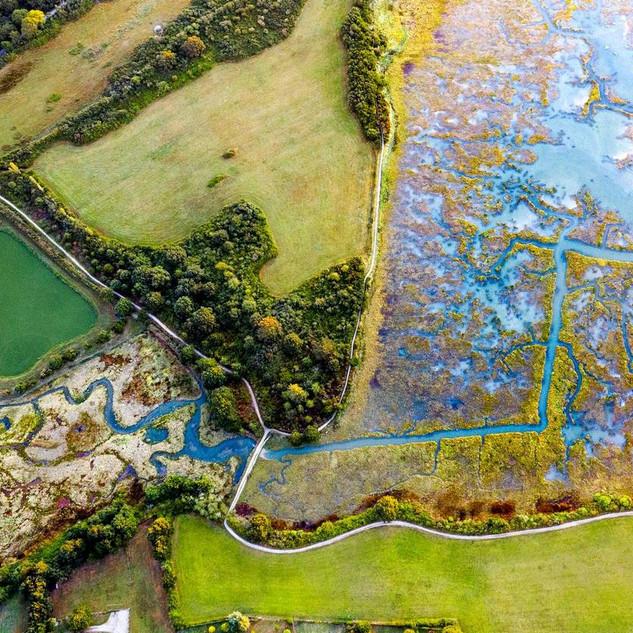 Drone dans le Golfe du Morbihan